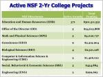 active nsf 2 yr college projects