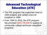 advanced technological education ate