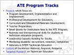 ate program tracks