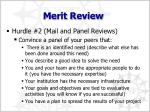 merit review