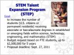 stem talent expansion program step