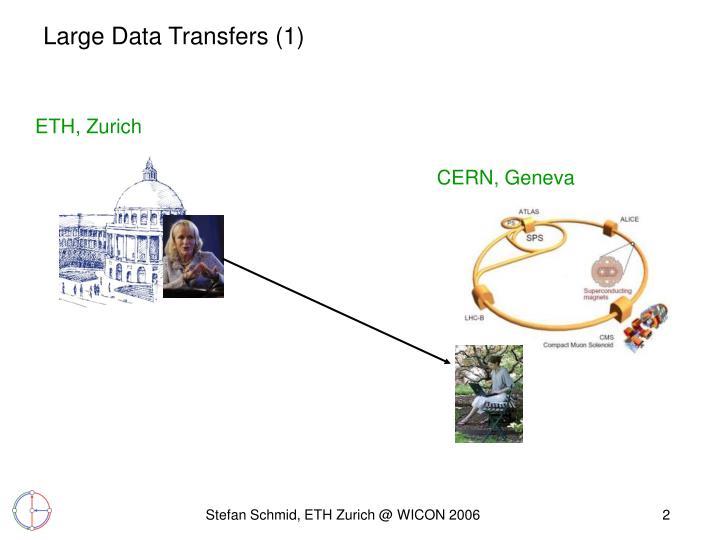 Large data transfers 1