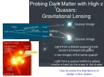 probing dark matter with high z quasars gravitational lensing