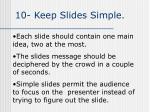 10 keep slides simple