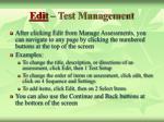 edit test management