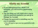 modify my account