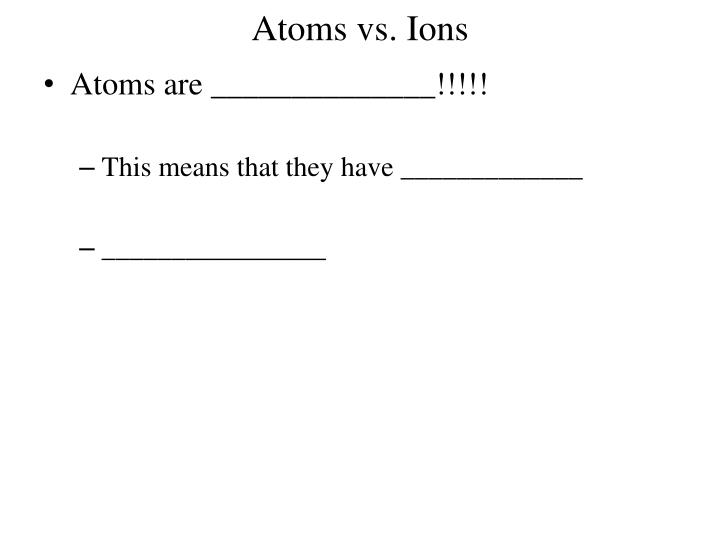 atoms vs ions n.