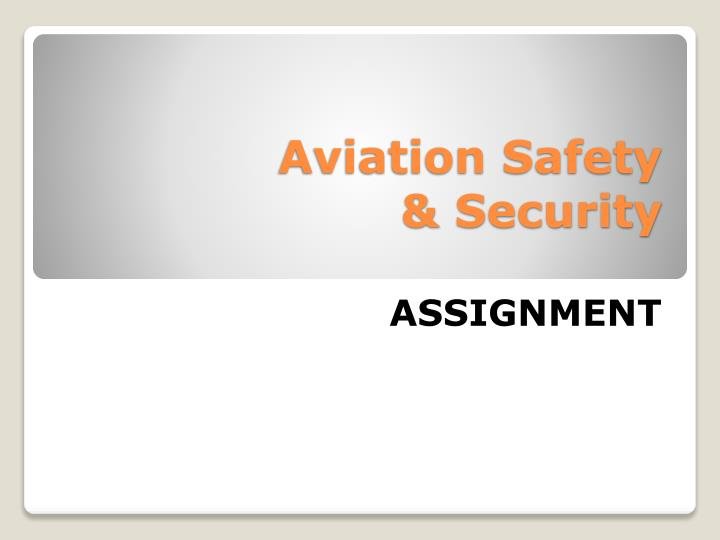 aviation safety security n.