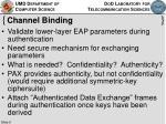 channel binding
