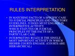 rules interpretation