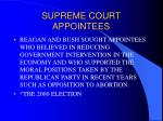 supreme court appointees