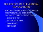 the effect of the judicial revolutions