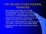 the fbi and other federal agencies