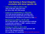 c4d staining in renal allografts correlation with donor specific ab