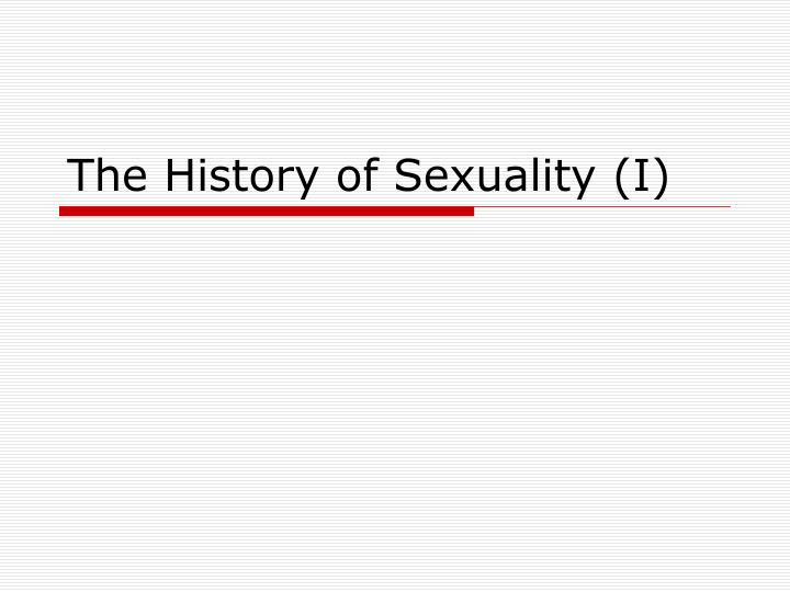 the history of sexuality i n.