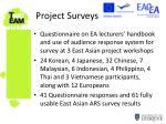 project surveys