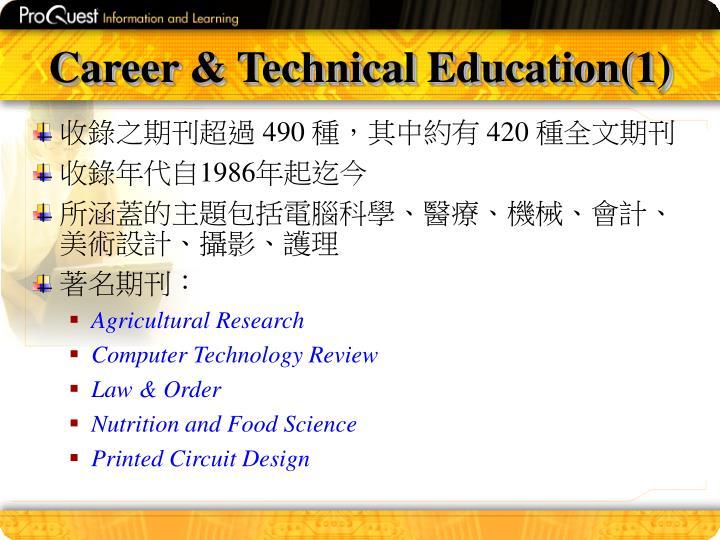 Career & Technical Education(1)