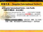 snapshot international series 1