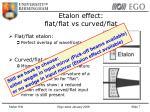 etalon effect flat flat vs curved flat1