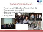 communication events