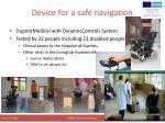 device for a safe navigation