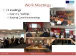 work meetings