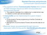 standard services and protocols communication synchronisation