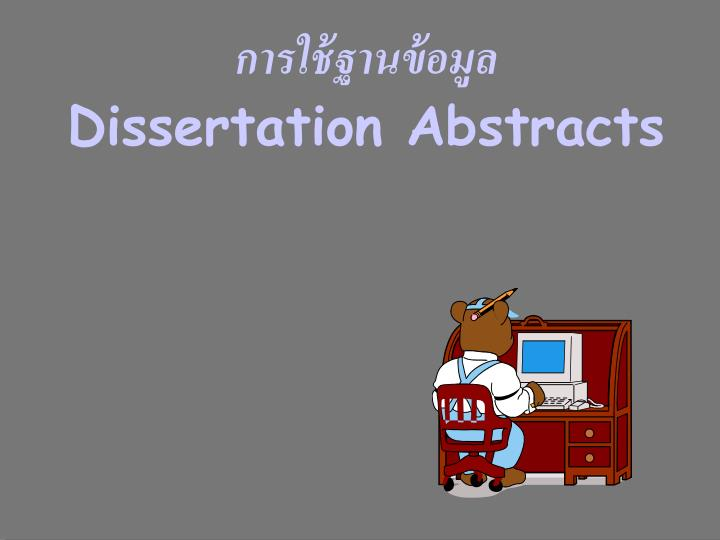 dissertation abstracts n.