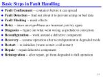 basic steps in fault handling