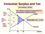 consumer surplus and tax