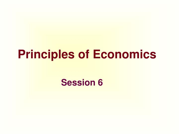 principles of economics n.