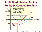 profit maximization for the perfectly competitive firm1