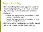 register handling