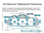 architecture deployment scenarios