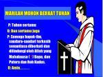 marilah mohon berkat tuhan