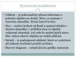 dynamick modelov n2