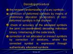 decoding procedure
