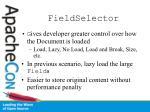 fieldselector