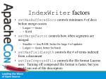 indexwriter factors