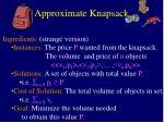 approximate knapsack3