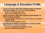 language education profile