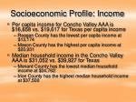 socioeconomic profile income