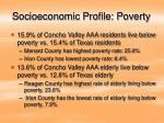 socioeconomic profile poverty