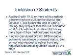 inclusion of students