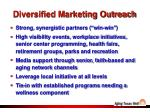 diversified marketing outreach