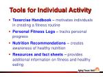 tools for individual activity