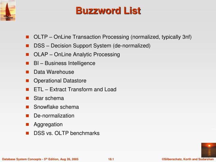buzzword list n.