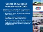 council of australian governments coag