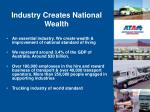 industry creates national wealth