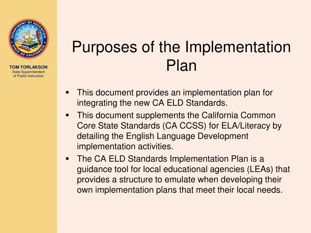 PPT - Implementation of the California English Language